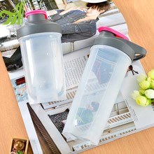 BPA free plastic water bottle protein shaker gym fitness water bottle