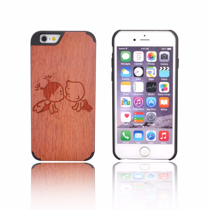 Trade Assurance Supplier Sapele Wood Case For Iphone 6