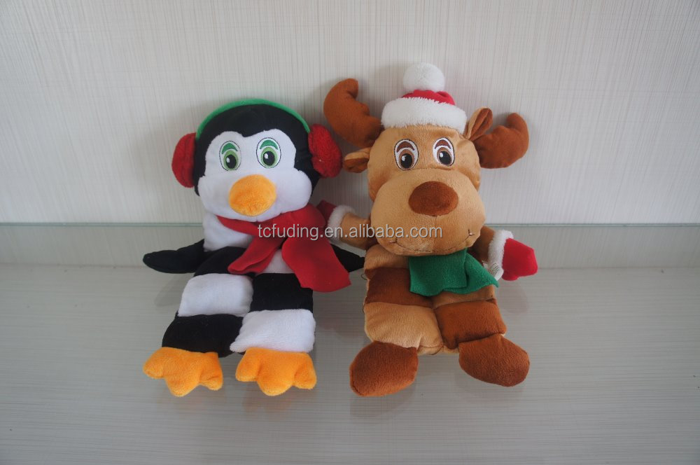 Christmas plush material cute pet toys, lovely soft toy