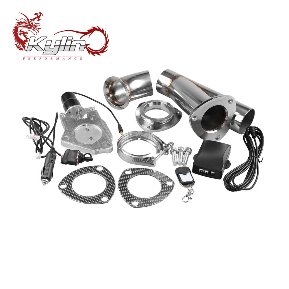 Ryanstar Racing Upgraded Version Stainless Steel Y Headers Pair Electric Exhaust Cutout Exhaust Pipe with Combo Switch