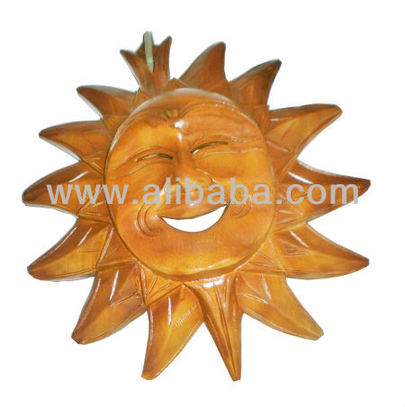 Acacia Wood Carving Sun God