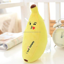 Custom Made Plush Banana Fabrics Stuffing emoji Banana Toy Best Fruit Toy