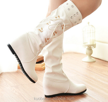 New arrive cheap women fashion brand long boots winter thigh high boots white Boots