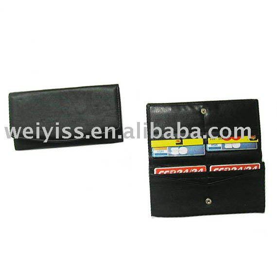 convenient brand leather wallet for card&changes