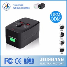 JS-931-1/2 Fashion universal usb outlet travel power adapter smart ic travel adaptor for mobile phone