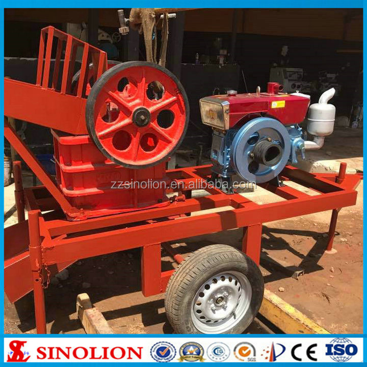 Small mini portable diesel engine mobile jaw crusher machine factory price widly used for Kaolin marble dolomite coal iron ore