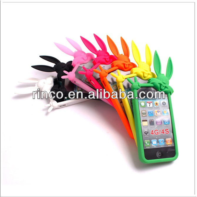 Rabbit Soft silicone Back Case Cover For iPhone 4 4G 4S
