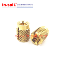 China supplier low profile m3 brass cross knurled insert for plastics manufacturer