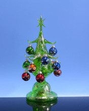 2017 wholesale led lighted mercury glass christmas tree