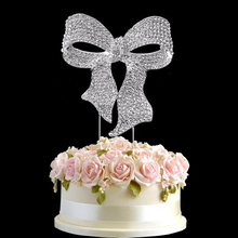 Fashion design party diamante bowknot Cake Topper wedding cake decorating set crystal rhinestone cake topper