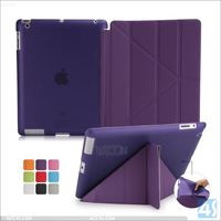 2016 best selling products clear tpu back cover pu leather front smart cover for ipad 4 3 2