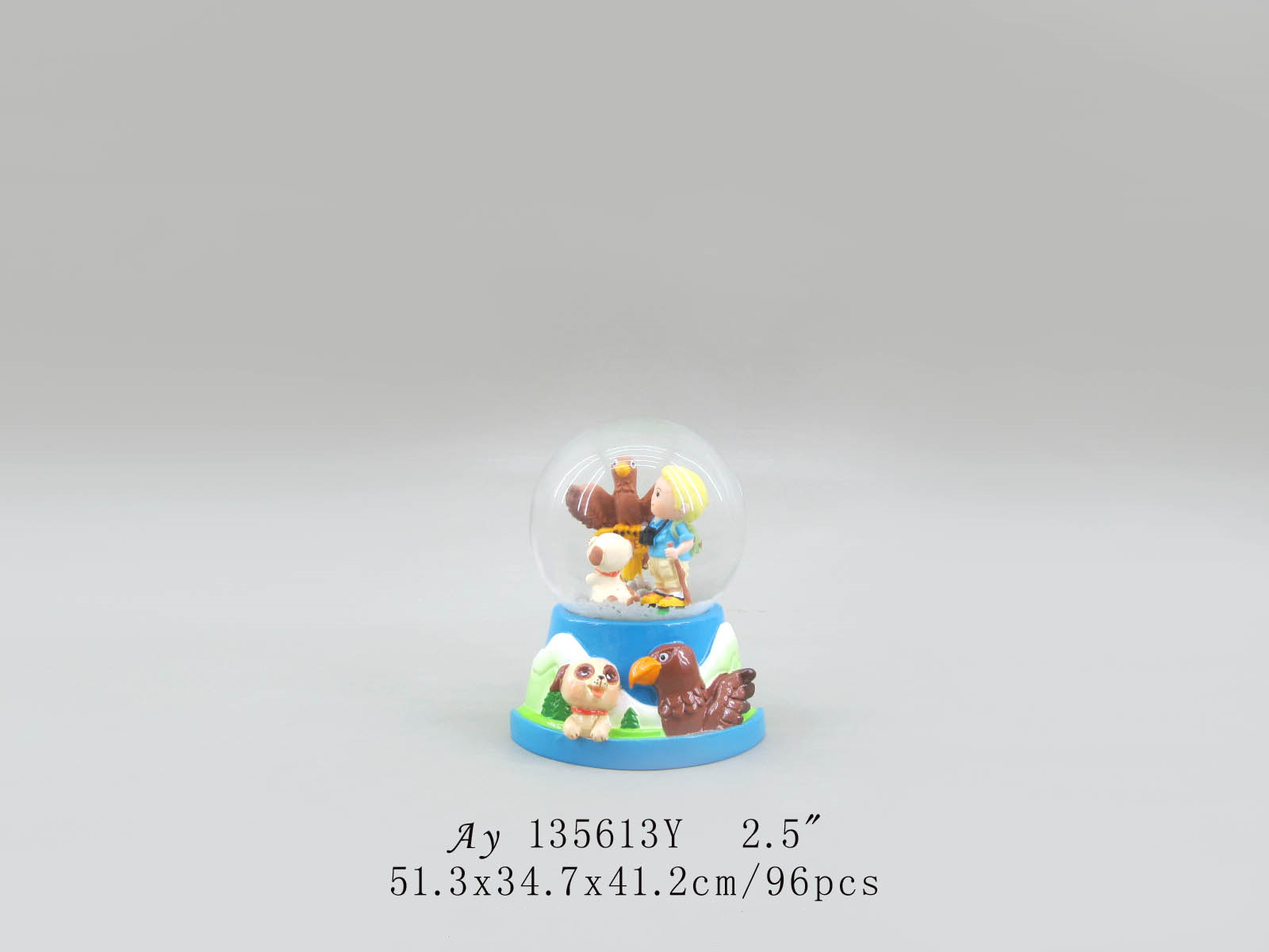 Resin Custom Made Souvenir human snow globe with baby gifts