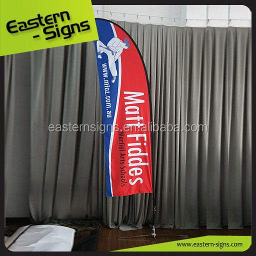 Outdoor event promotion flying banner, feather flag
