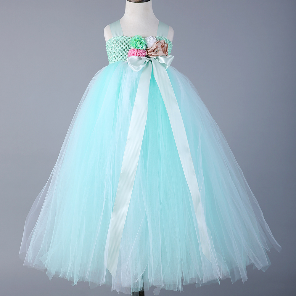 girl fairy flower girl dress wedding party princess tutu