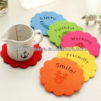 Hot sell Eco friendly 5mm thick felt pad for coasters in bulk made in China