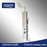 outdoor brush finish stainless steel shower column