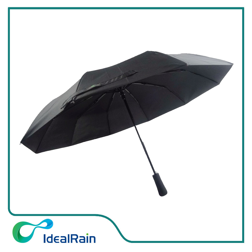 Windproof travel umbrella with 10 ribs and long hanlde
