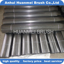 High quality road cleaning brush flat steel wire