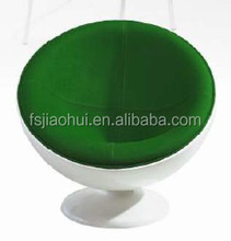 JH-004 Fiberglass Swivel round Lounge Chair for living room