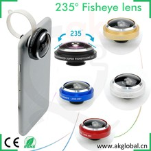 For iPhone 6 plus 5s samsung galaxy s6 s5 s4 s3 huawei P8 max phone accessories 235 degree super fisheye lens