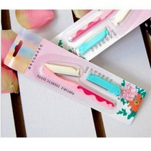 Hot Womens Foldable Mini Stainless Steel Makeup Tools Eyebrow Knife with Replace Razor