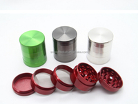 2.5 Inch 4 part Clear Top Herb Grinder With Handle