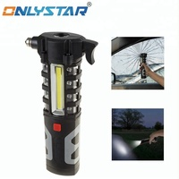 GS-4029 Multifunctional 3w led flashlight for auto-used and emergency escape tool work light with flashing beacon