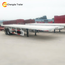 2 axle 20ft Container Transport Flatbed Semi Truck Trailer With Twist Locks Prices