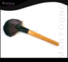 High quality wooden handle large fan makeup brushes