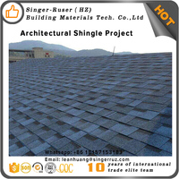 Roof Glazing Stone Granules Asphalt Shingle Sheets, Bitumen Roof Tiles