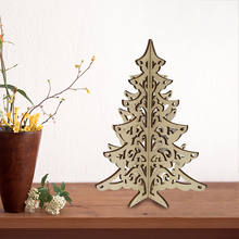 Most popular table decoration wooden christmas tree ornament