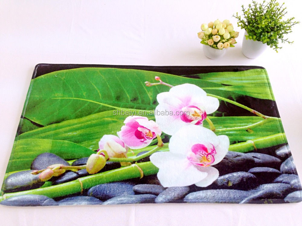 Wholesale High Quality Photo Print Zen Mat , Zen Rug