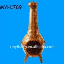 2012 new hot sale terracotta butterfly chimenea