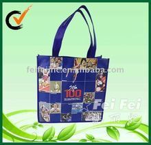 Fashion Laminated purple shopping tote bag