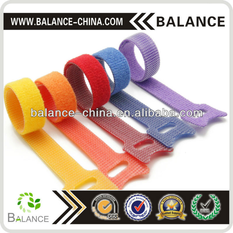 Printed logo colorful cable tie/hook loop cable tie