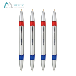 Marbling MPL811S Smooth Writing 2 Colors In Two End Plastic Twist Casinos Pen