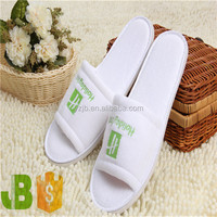 Disposable Open toe Slippers Embroideried Hotel Slippers