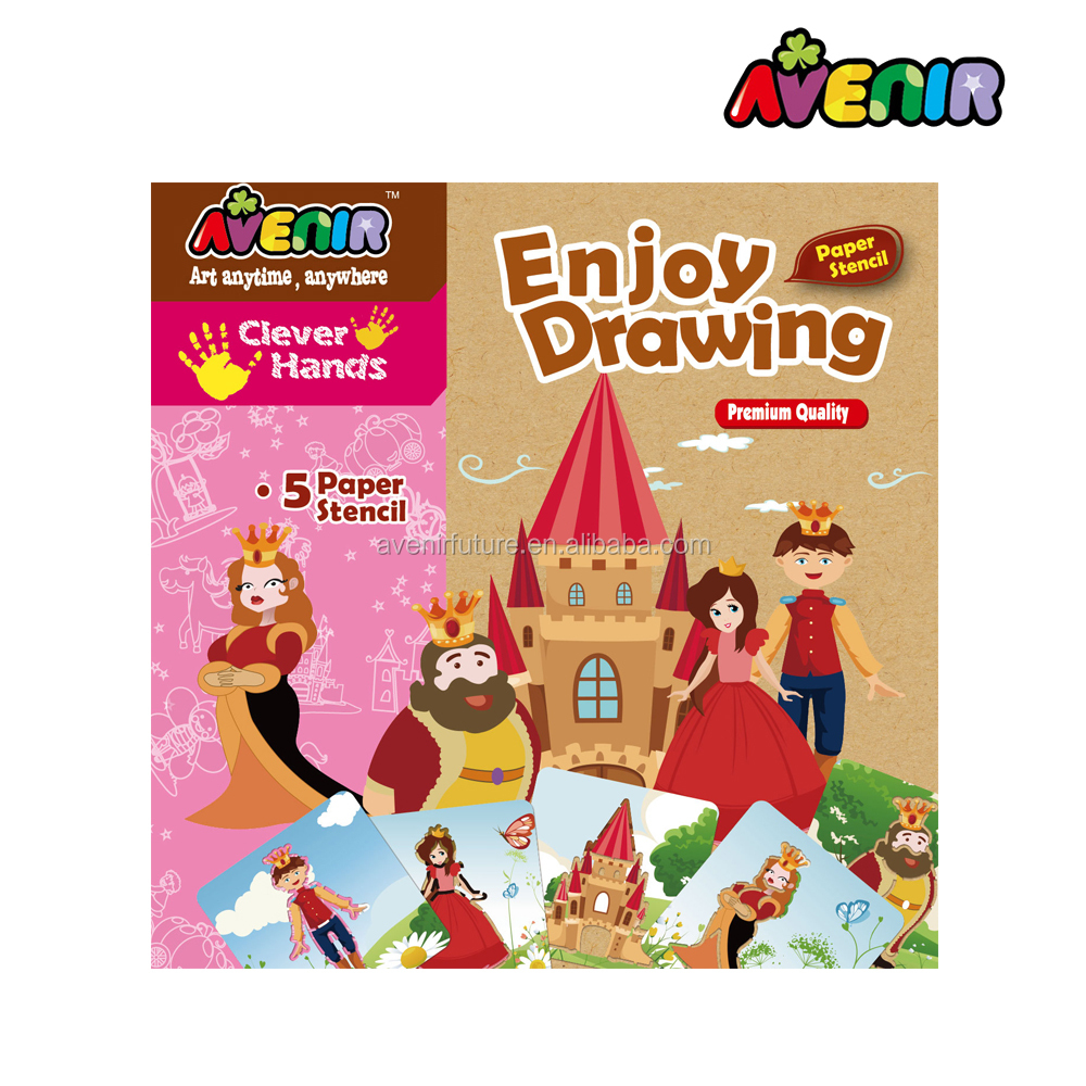 2017 educational best selling new toys for kids drawing paper stencil 2016