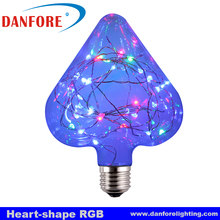 Various Fancy Decorative LED Bulb with RGB Copper Wire Inside E27 base for Christmas KTV decoration