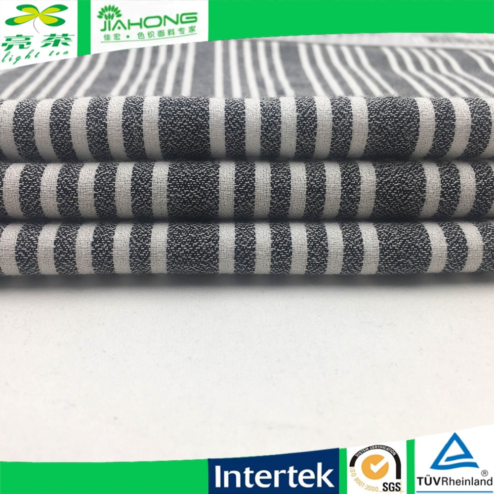 Wholesale grey stripe 101gsm 40R fabric cotton rayon