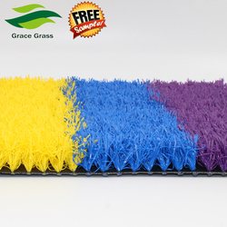 Nice pink Plastic Playground Artificial Grass Carpet