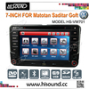 7 inch touch screen digital TFT car dvd vw with canbus