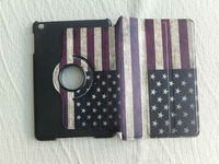 Retro USA Flag Leather Stand Case Cover Skins for Apple Ipad Mini 7.9""