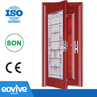 Stainless steel outter door Steel inner door Twin Door