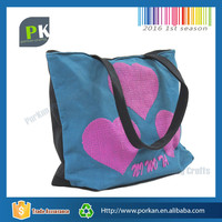 Standard Size Cotton Tote Bag With Custom Printed Logo