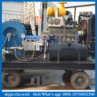 Diesel engine pipe cleaning machinery high pressure water pressure test pump