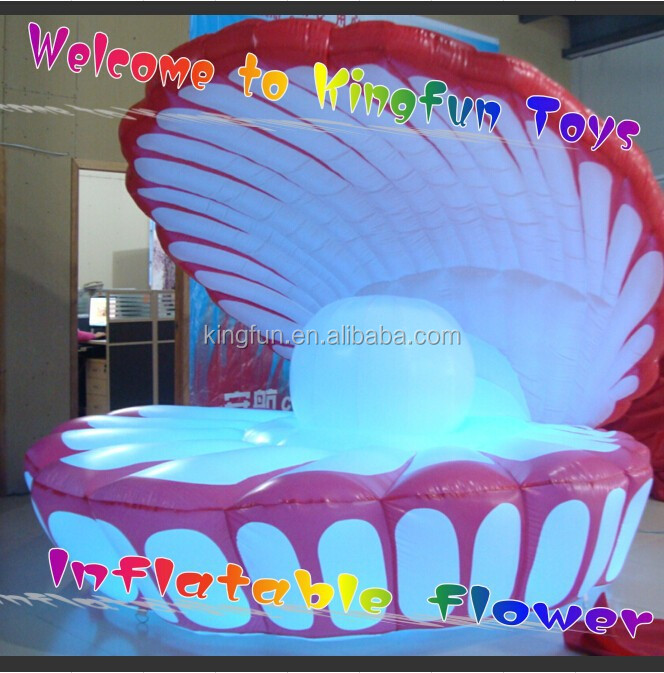 Colorful stage/event led inflatable shell decoration