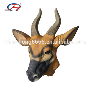 Resin Figure Wall Statue Animal Head Sculpture