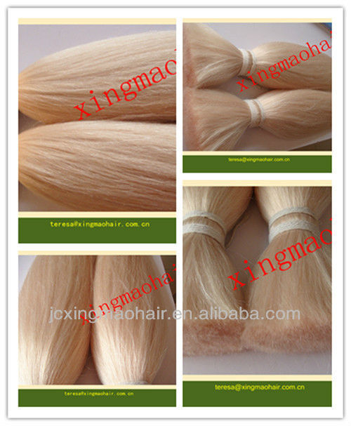 Factory Wholesale High Quality Korea Knotted Remy Hair With Two I-tips Cotton Link Hair Extensions