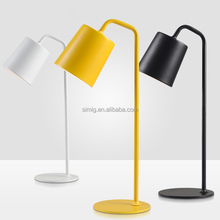black ,white and yellow color modern hotel table lamp E27*1-40w